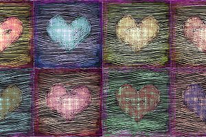 Decorative grunge hearts background