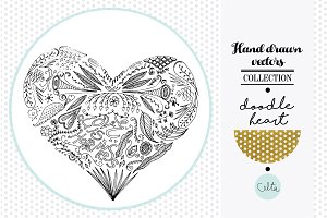 Hand drawn vector - Heart [20% off]