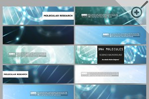 Мodern science vector banners