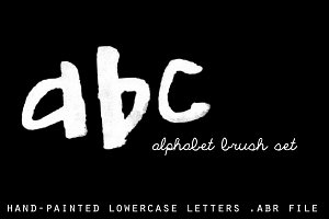 ABC Photoshop Brush Set