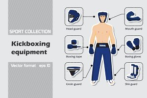 Set of kickboxing equipment