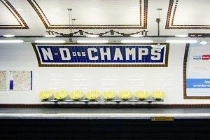 Notre Dame des Champs Metro, Paris