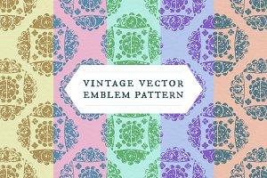 Vintage Vector Emblem Pattern