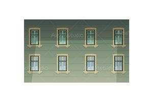 Retro Building Facade
