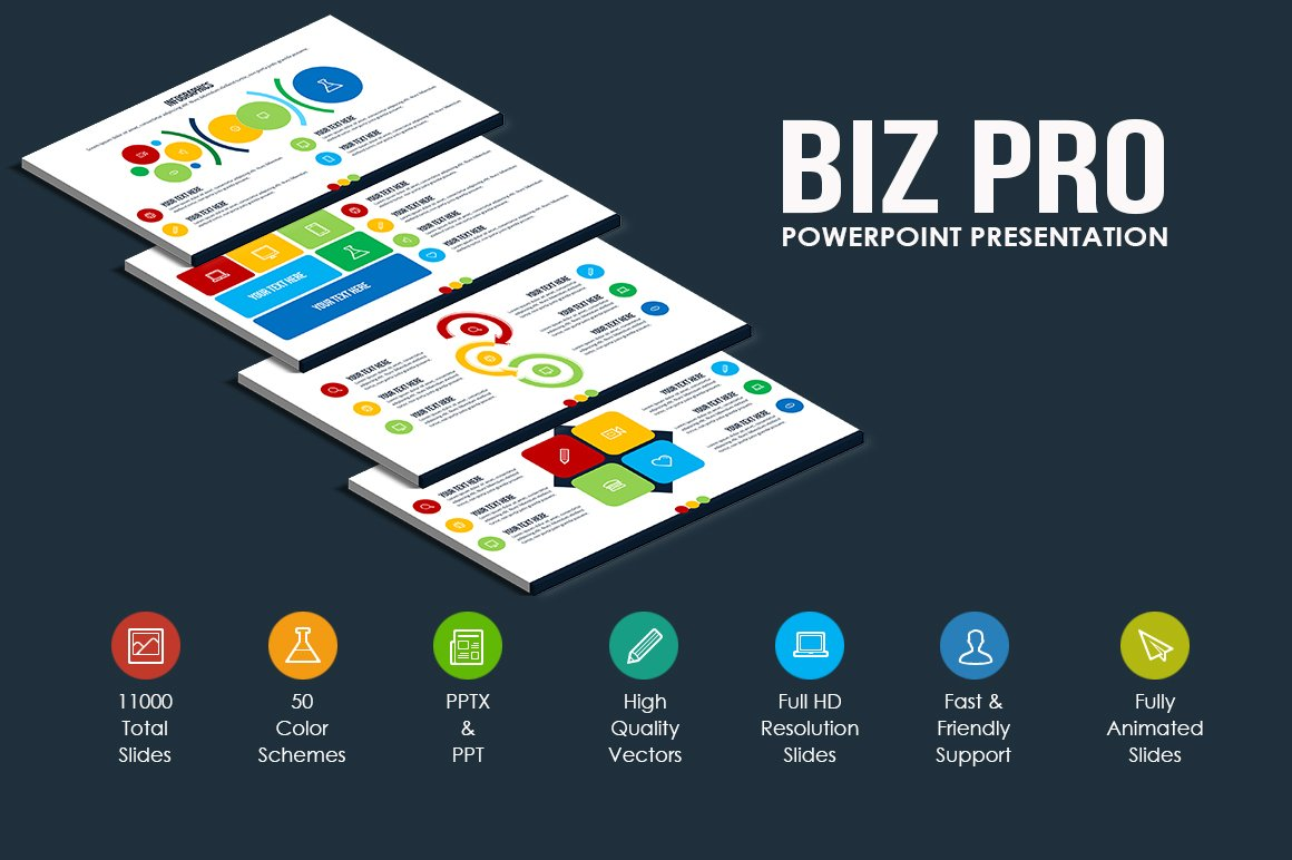 biz pro powerpoint template presentation templates creative market