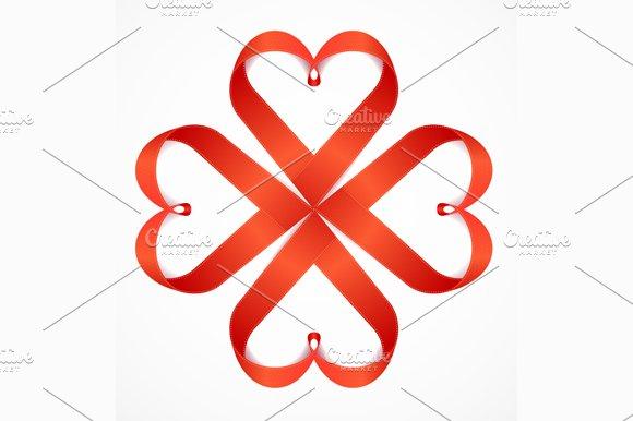 Red Valentine Heart. Vector - Illustrations