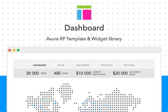 axure dashboard template