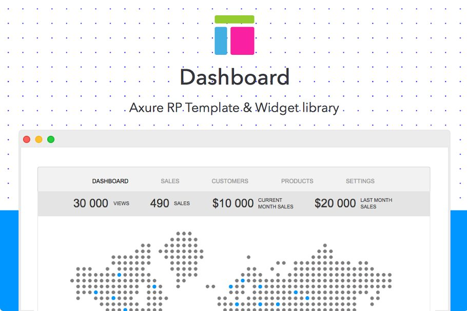 Axure Template Dashboard