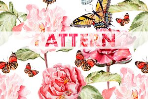 8 bright watercolor patterns