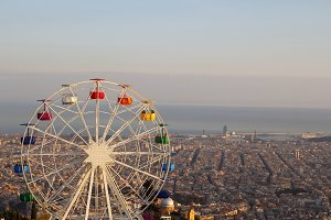 Ferris wheel at Barcelona Tibidabo