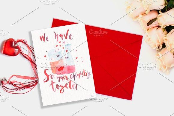 Valentines day card Chemistry