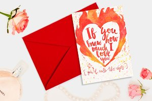 Valentine's day romantic card