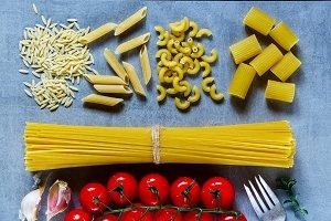 Mix of pasta