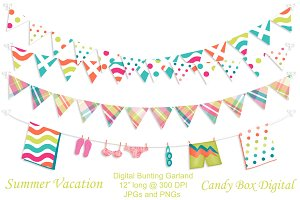 Summer Vacation Digital Bunting