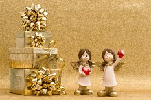 Little angels and gift boxes