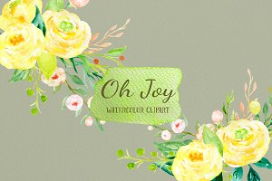 Watercolor Clipart Oh Joy