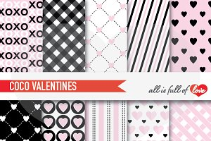 Black Pink Valentines Day Background