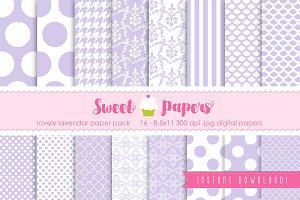 Lavendar Digital Paper Pack SPLL01