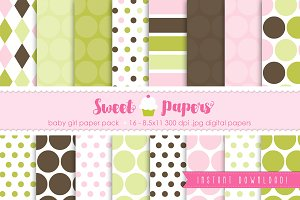 Baby Girl Digital Paper SPBG01