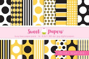 Bee Digital Paper Pack SPBEE01