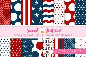 America Digital Paper Pack SPAM01