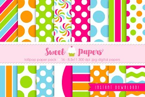 Lollipop Digital Paper Pack SPLO01