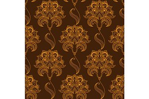 Oriental stylized paisley flourish s