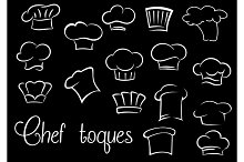Chef toques and baker hats