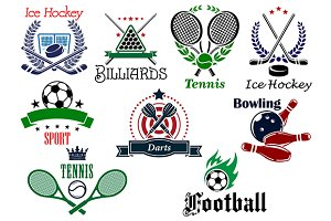 Team and individual sports heraldic