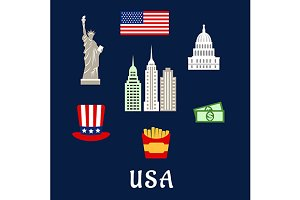 USA famous architecture and culture