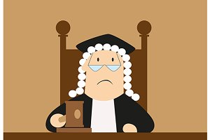 Judge passes verdict in the courtroo