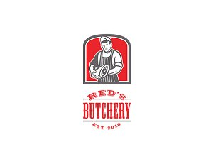 Red's Butchery Logo