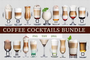 Coffee cocktails bundle (18 images)