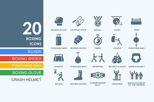 20 Boxing icons