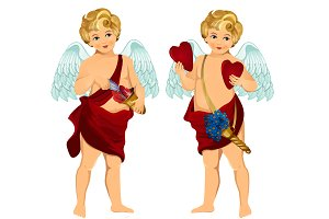Cupid. Valentine Day.Vintage