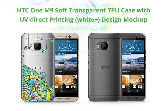 One M9 TPU Case UV Print Mock-up