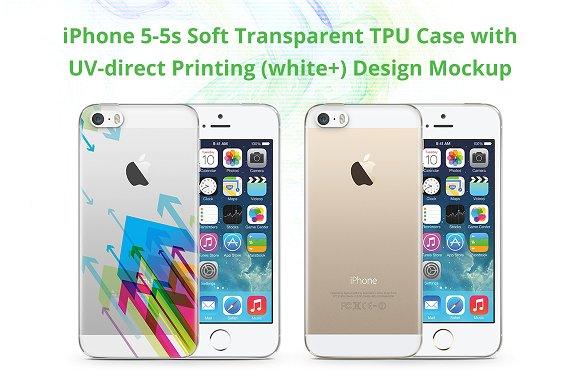 iPhone 5-5S TPU Case UV Print Mockup