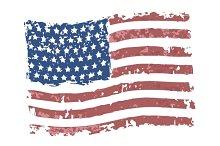Vector grunge american flag