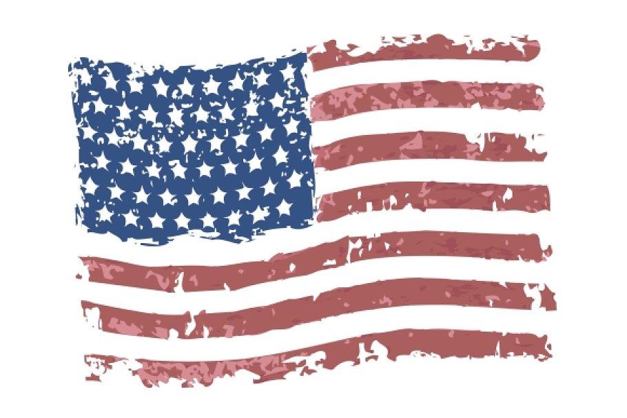 6d532d1eb58b Vector grunge american flag ~ Graphics ~ Creative Market