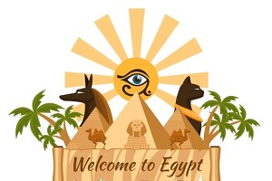 Egypt travel poster element