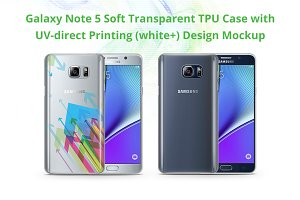 Galaxy Note 5 TPU Case UV Print Mock
