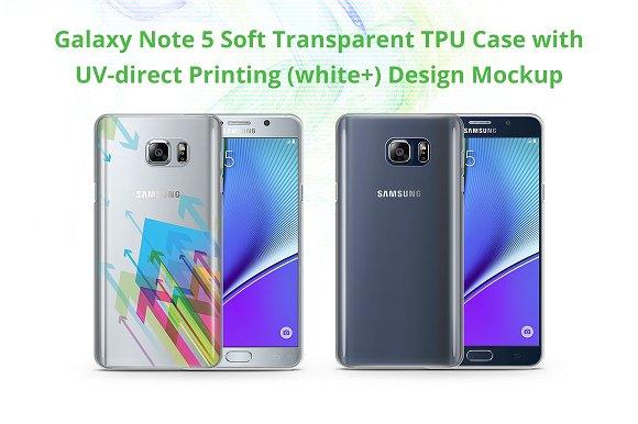 Galaxy Note 5 TPU Case UV Print Mock