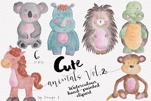 Cute Watercolor animals Vol.2