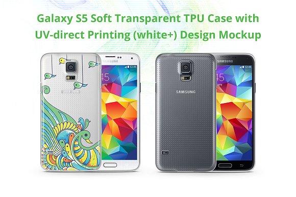 Galaxy S5 TPU Case UV Print Mock-up