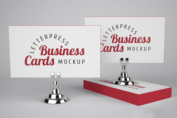 Letterpress business cards mockup product mockups creative market reheart Gallery