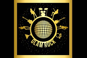 Glam Rock Poster + 9 Icons