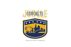 Concrete Jungle Construction Logo