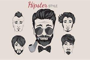 Hipster Design Set.