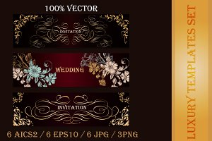 Collection of luxury templates