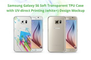 Galaxy S6 TPU Case UV Print Mock-up